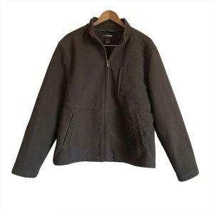 CLAIBORNE Casual Zip Up Fall Jacket Coat Brown